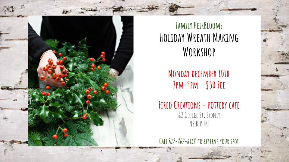 Holiday Wreath Workshop Gocapebreton Com